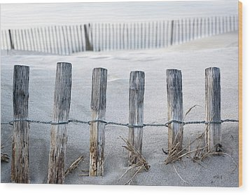 Aresquiers Beach Wood Print by Anne Petitfils