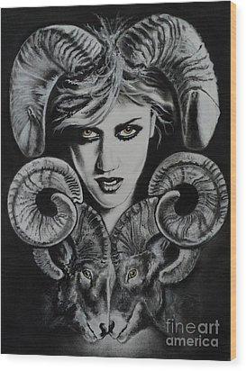 Aries The Ram Wood Print