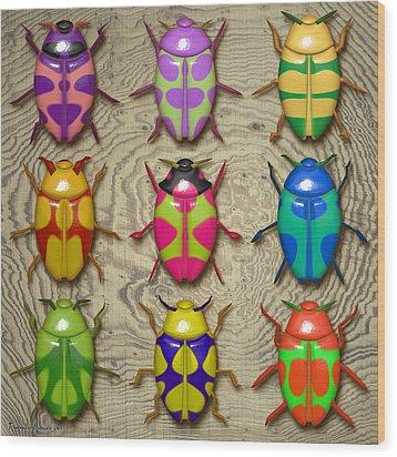 Aristotle Coleoptera IIi. Wood Print by Tautvydas Davainis