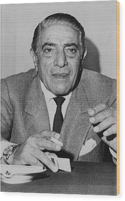 Aristotle Onassis, Circa Early 1970s Wood Print by Everett