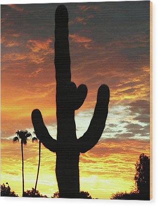 Arizona Sunrise 01 Wood Print