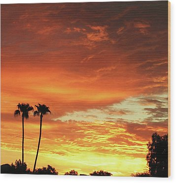 Arizona Sunrise 02 Wood Print by Rand Swift
