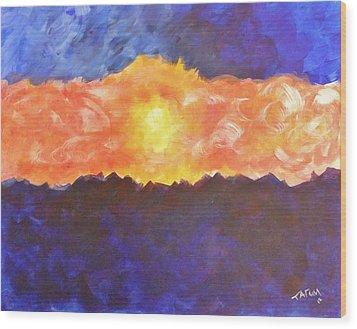 Arizona Sunset Wood Print