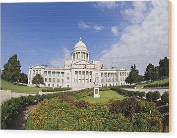 Arkansas State Capitol Building Wood Print by Wesley Hitt