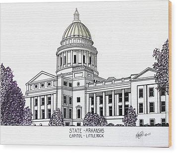 Arkansas State Capitol Wood Print by Frederic Kohli