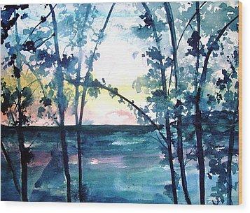 Arkansas Sunset Wood Print by Robin Miller-Bookhout