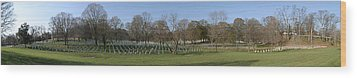 Arlington National Cemetery Panorama 1 Wood Print by Metro DC Photography