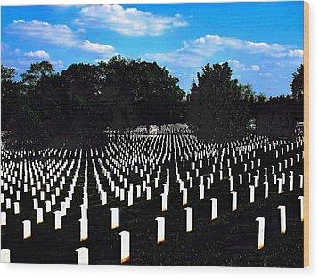 Arlington National Cemetery Wood Print by Valia Bradshaw