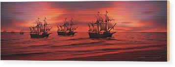 Armada Wood Print by Lourry Legarde