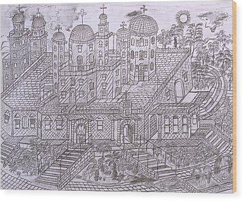 Armenian Church Wood Print by Yuriy Mkhitaryants