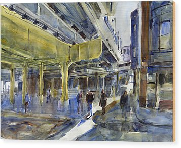 Armitage L Station Wood Print by Gordon France