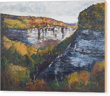 Wood Print featuring the painting Around The Bend by George Richardson