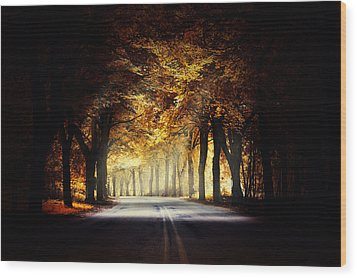 Around The Bend... Wood Print by Marek Czaja