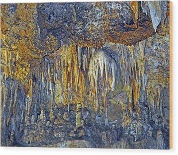 Array Of Stone Wood Print by Lynda Lehmann