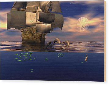 Wood Print featuring the digital art Arrival Of The Pilots by Claude McCoy