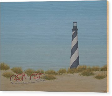 Arriving At Cape Hatteras Wood Print
