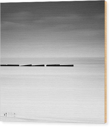 Arromanches Les Bain Wood Print by Nina Papiorek