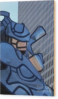 Art And Architecture Wood Print by Laurel Thomson