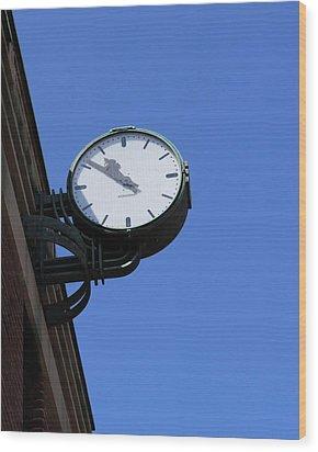 Art Deco Clock Wood Print