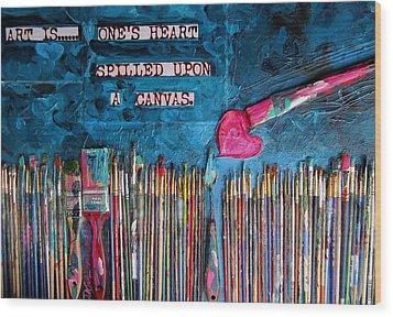 Art Is Blue Version Wood Print by Patti Schermerhorn