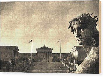 Art Museum Of Philadelphia Wood Print by Andrew Dinh