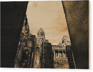 Art Temple Wood Print
