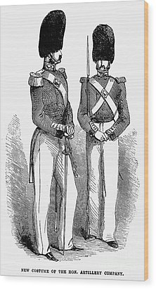 Artillery Company, 1855 Wood Print by Granger