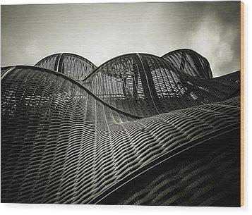 Artistic Curves Wood Print