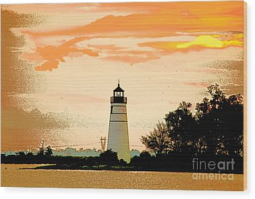 Wood Print featuring the photograph Artistic Madisonville Lighthouse by Luana K Perez