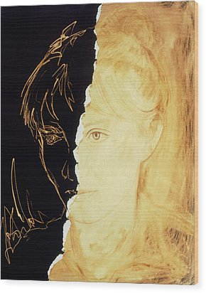 Artist's Abstract Depiction Of Schizophrenia Wood Print by David Gifford