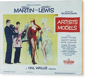 Artists And Models, Dean Martin, Jerry Wood Print by Everett