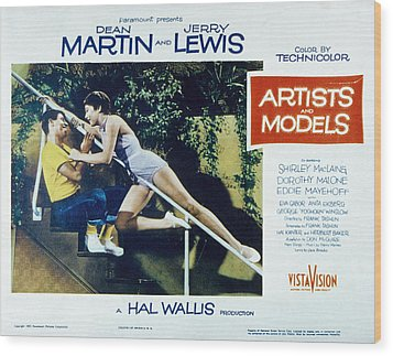Artists And Models, Jerry Lewis Wood Print by Everett