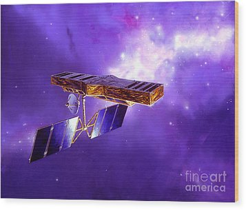 Artists Concept Of Space Interferometry Wood Print by Stocktrek Images