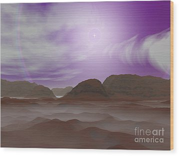 Artists Concept Of The Atmosphere Wood Print by Walter Myers