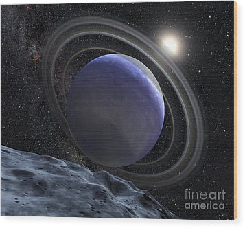 Artists Illustration Of An Extrasolar Wood Print by Stocktrek Images