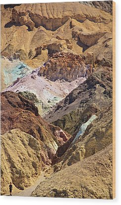 Artist's Palette At Death Valley Wood Print by Levin Rodriguez