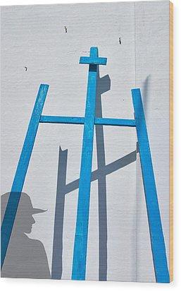 Artists Shadow Wood Print by Salvator Barki