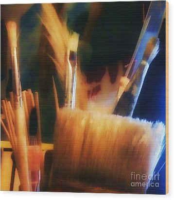 Artists Tools Wood Print by Isabella F Abbie Shores FRSA