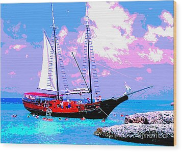 Aruba Adventure Wood Print by Jerome Stumphauzer