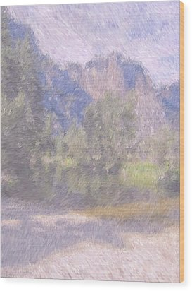 As If Monet Painted Yosemite Wood Print by Heidi Smith