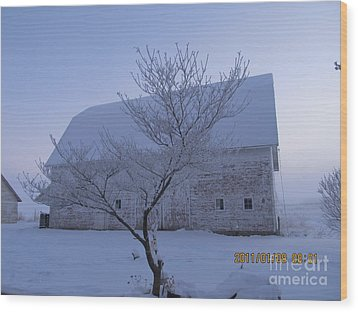 Wood Print featuring the photograph As White As Snow by Tina M Wenger
