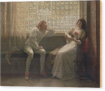 'as You Like It' Wood Print by Charles C Seton