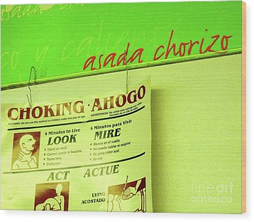 Asada Choke - Izo Wood Print by Joe Jake Pratt