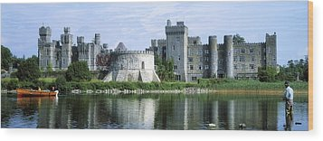 Ashford Castle, Lough Corrib, Co Mayo Wood Print by The Irish Image Collection