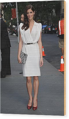 Ashley Greene Wearing A Salvatore Wood Print by Everett