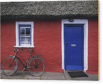 Askeaton, Co Limerick, Ireland, Bicycle Wood Print by The Irish Image Collection