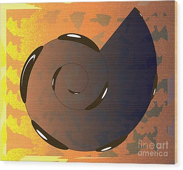 Asomatous IIi Wood Print by Michelle Bergersen