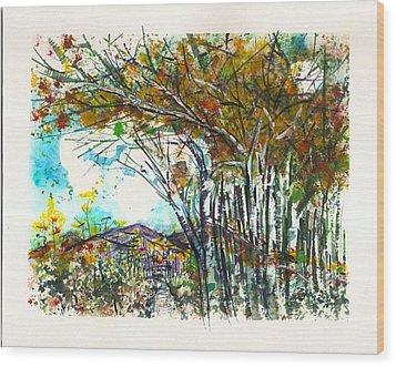 Aspen And  Spanish Peaks Wood Print