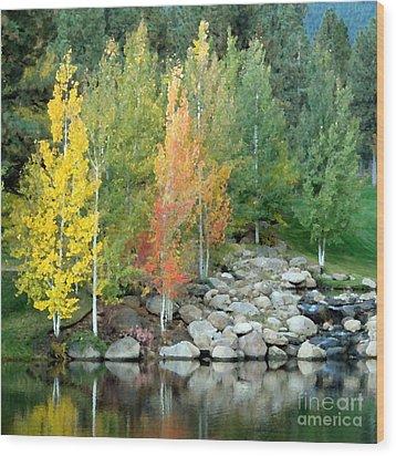 Aspen At Montreux Wood Print
