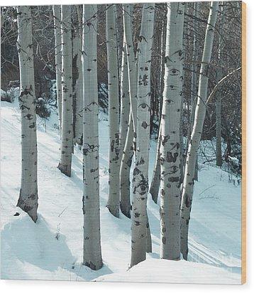 Aspen Have Eyes Wood Print